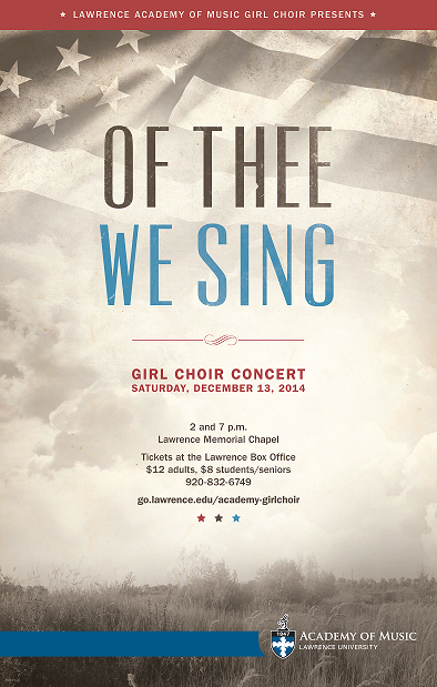 Girl Choir Concert Poster